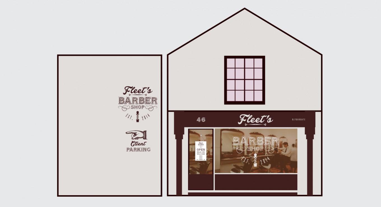 DD Studios   Work - Fleet's Barber Shop